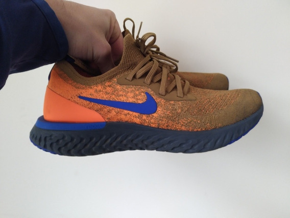 Tênis Nike Epic React Flyknit Running Corrida Gold 9us 40,5
