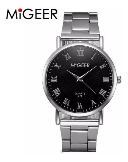 Reloj De Acero Inoxidable. Marca Migeer Excelente Calidad.