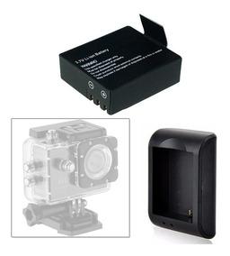 Carregador E Bateria Camera Sports Cam X4000 Universal Sjcam