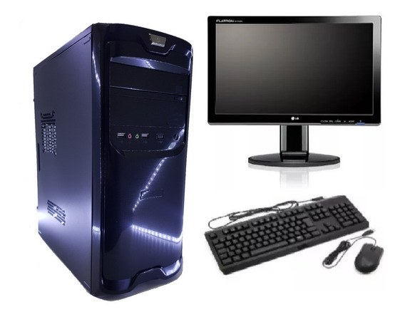 Pc Cpu Intel Core I5 2ªg+monitor Lg 19,5 Novo C/wifi+brinde!