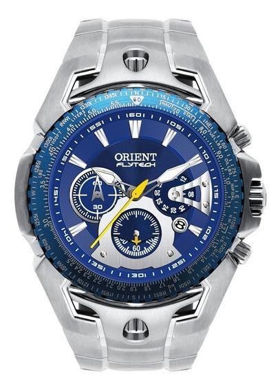 Relógio Orient Masculino Flytech Titânio Mbttc006 Azul
