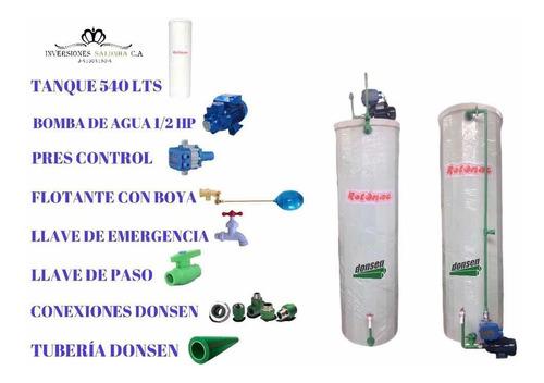 Tanques De Agua Cilindrico Sistema Completo Tienda Fisica