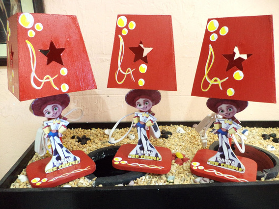 7 Lamparas Infantiles Centro Mesa Vaquerita Jesy Toy Story