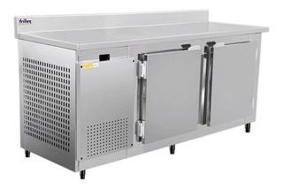 Balcão Refrigerado 190 Cm Inox P/ Frios C/ Encosto 2 Portas