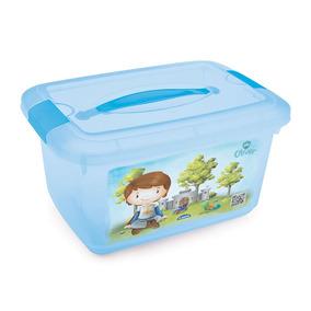 Box Infantil Decorado Com Alça Oliver 5,2 Litros - Plasúti