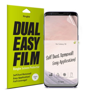 Film Protect Ringke Samsung S8 S8+ S9 S9+ Dual Easy Pack X2#