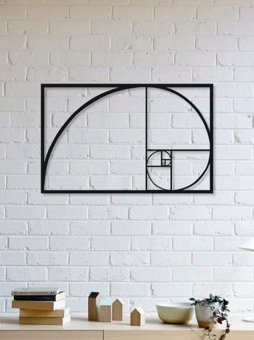 Imagem 1 de 2 de Quadro Decorativo Parede Diversos Proporção Áurea 90cm