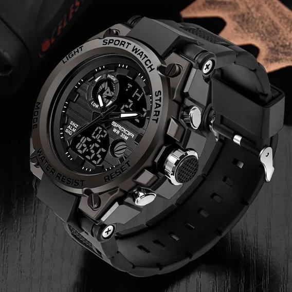 Relógio Sanda Militar Caixa Em Aço Aprova D
