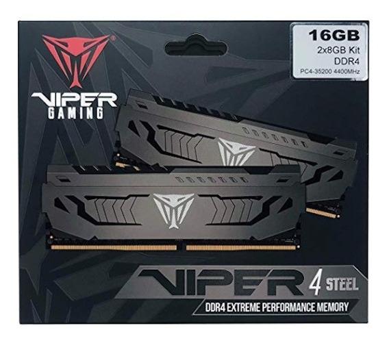 Memoria Ddr4 16gb(2x8gb) 4133mhz Patriot Viper Steel 4000mhz