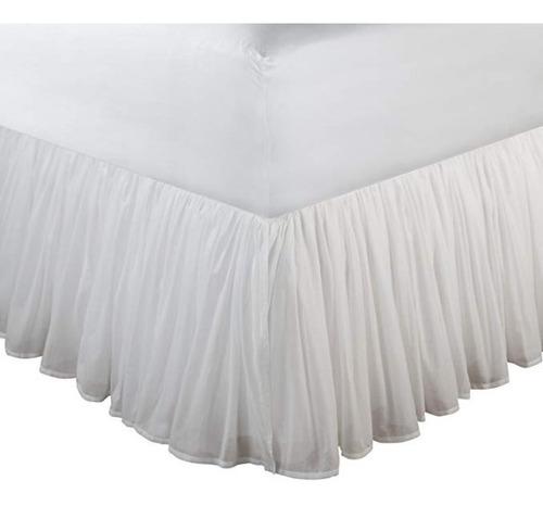 Imagen 1 de 2 de Rufle Para Cama King Cotton Voile Original (nuevo)