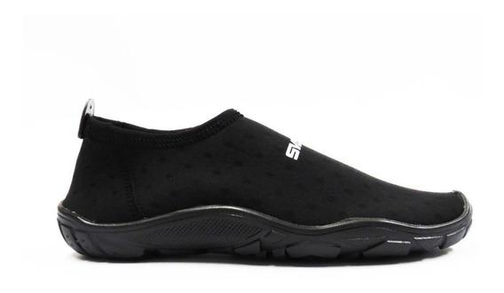 Zapato Acuatico Playa - Montaña Modelo Aqua Negro Pvr