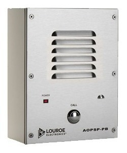 Aop-sp-pb Intercomunicador Louroe De Audio Para Cámaras Ip
