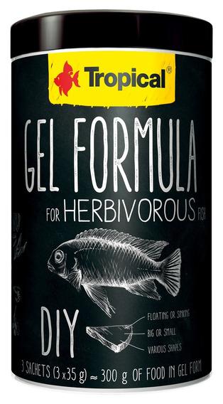 Ração Tropical Fórmula Em Gel Para Herbívoros - 105g