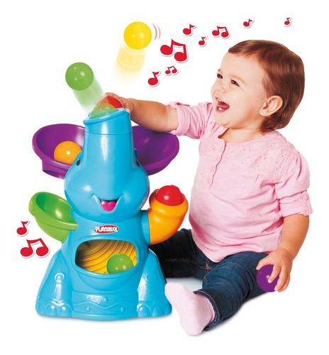 Elefante Musical De Playskool Lanza Pelotas Para Gateo Bebe