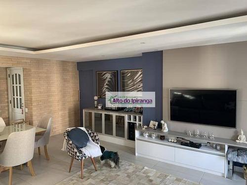 Apartamento Com 2 Dormitórios À Venda, 100 M² Por R$ 2.000.000,00 - Moema - São Paulo/sp - Ap4812