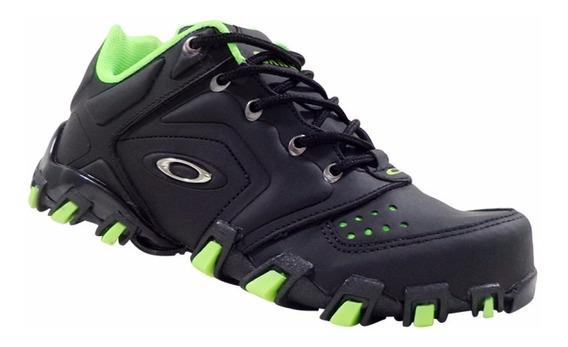 Tênis Masculino Oakley Teeth Anchor Preto E Verde