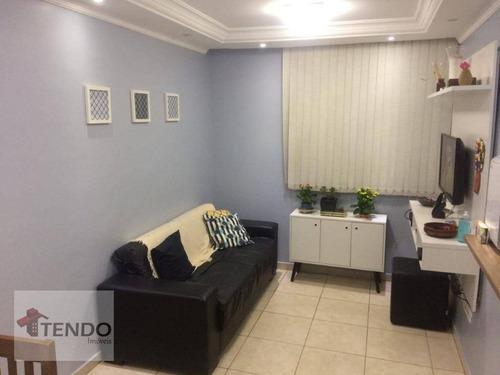 Imagem 1 de 17 de Imob01 - Apartamento 48 M² - Venda - 2 Dormitórios - Taboão - São Bernardo Do Campo/sp - Ap2736