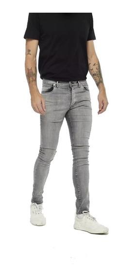 Jeans Hombre Bensimon Ramones Flat Grey Skinny Denim Premium