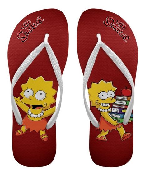 Chinelos Havaianas Personalizados Lisa Simpsons Slim [1]