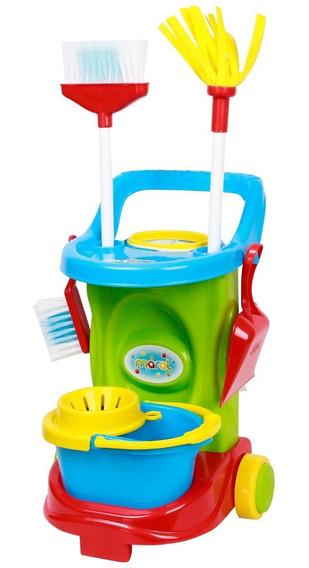 Kit De Limpeza Infantil Cleaning Trolley - Maral - Verde