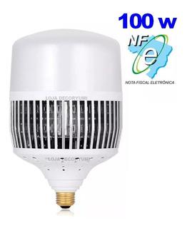 Lâmpada Branca Alta Potência 100w Galpão Loja Deposito C/ Nf