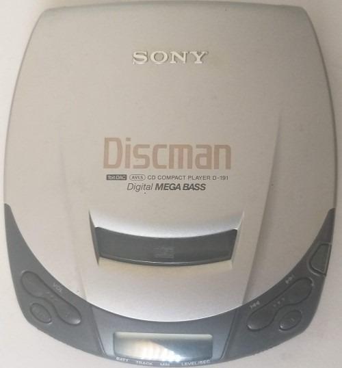 Discman Sony D-191 Cd Compact Player Ligando Porem Não Lê Cd