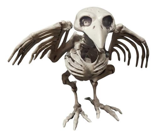 Imagen 1 de 1 de Decorativo Esqueleto De Cuervo Crow Skeleton Halloween