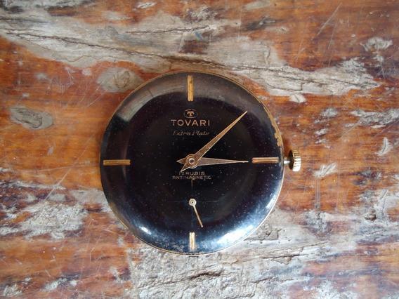 Maquina Relógio Tovari Extra Plate Antimagnetic 17 Rubis