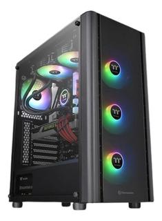 Gabinete Gamer Thermaltake V250 Tg Rgb 3 Fan Vidrio Templado