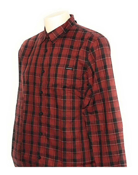 Camisa Oakley Repetition Woven Fired Brick Talla Chica
