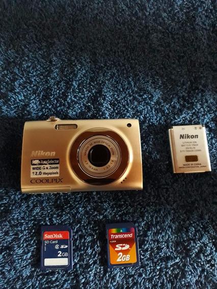 Câmera Nikon Coolpix S2500 Usada