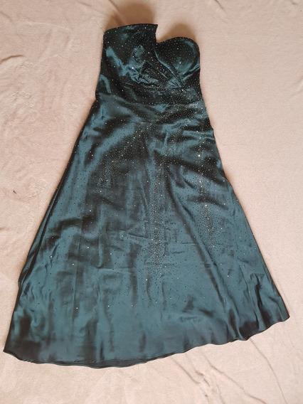 Vestido De Festa Longo - Verde Escuro - Tamanho Gg