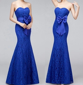 7b8777bf92 Vestido Longo Sereia Tomara Caia - Vestidos Longos Femininas Azul no ...