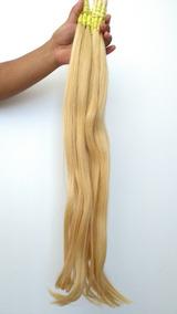 Cabelo Humano Loiro Claro P/ Mega Hair 70 A 75cm Com 75 Gr