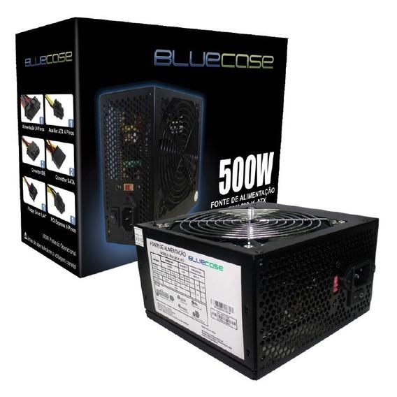 Fonte 500w Atx Bluecase Blu 500-e