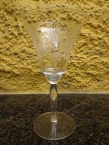 Antigo Cálice Em Cristal - R 3341