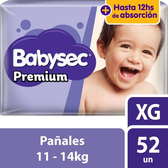 Pañal Babysec Premium Xg X52