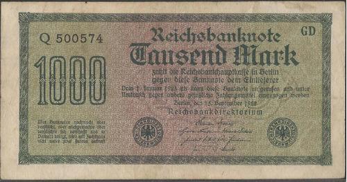 Alemania 1000 Mark 15 Sep 1922 P76a