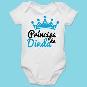 a0d5edcaa1 Body Personalizado Para Bebê - Príncipe Da Dinda