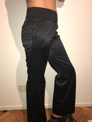 Pantalon Mujer Daniel Hechter Park Saten Con Vivo Negro