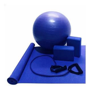 Kit Yoga Pilates Ginastica Tapete Bola Treinamento Funcional