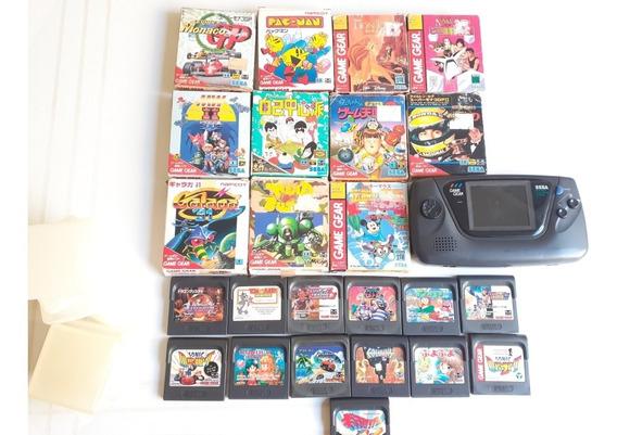 Game Gear Japones Com 24 Jogos Originais Tudo 100% Frete 12x