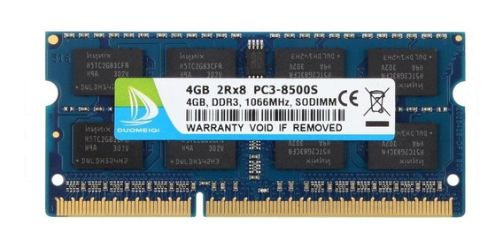 Memoria 4gb Ddr3 1066mhz Notebook Macbook Pc3-8500 Lacrada