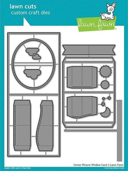 Suaje Lawn Fawn Scrapbook Manualidades Picture Window Card