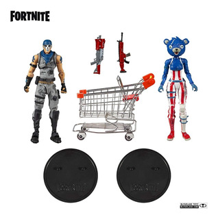 Fornite Shopping Cart Pack 2 Personajes Con Accesorios