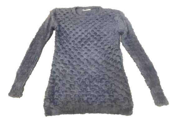 Blusa Cropped Pelinho De Frio Feminina Pelúcia Longo Inverno