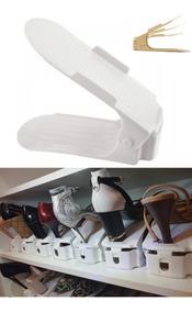 Kit 24 Organizadores Sapato C Regulagem (10 Cores) + Brinde