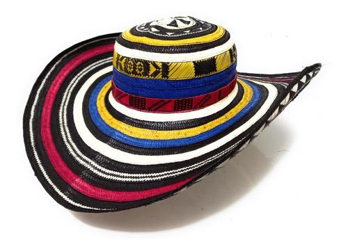 Imagen 1 de 7 de Sombrero Vueltiao Tricolor No. 2 15 Vueltas Colombiano