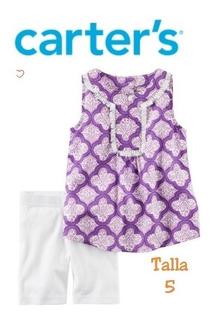 Carters Conjunto Niña 5t Blusa Y Pantalón