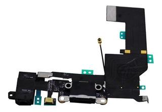 Cabo Flex Conector Carga Usb Flat Dock Microfone iPhone 5s